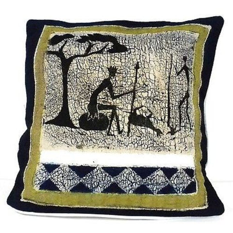 Handmade Hunting Batik Cushion Cover-Snazzy Bazaar