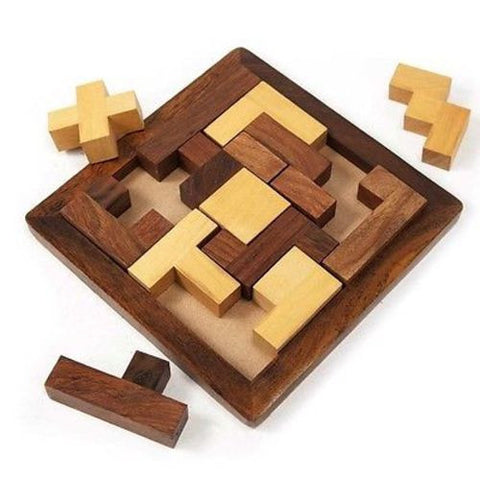 "Handmade ""Piece It Together"" Wood Puzzle-Snazzy Bazaar"