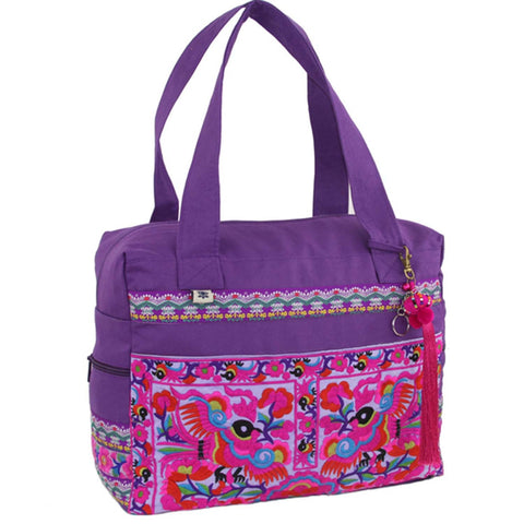 Hmong Retreat Bag - Purple-Snazzy Bazaar