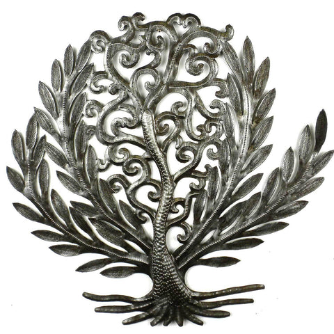 Laurel Leaf Tree of Life - Haitian Metal Wall Art-Snazzy Bazaar