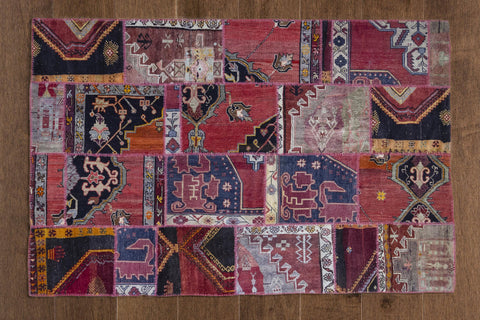 Outside Energy - Vintage Patchwork Rug-Snazzy Bazaar