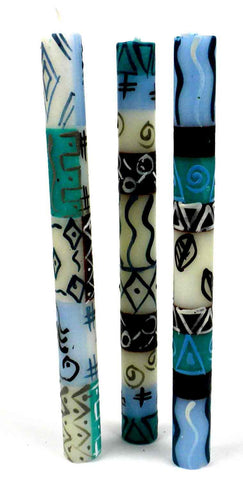 Set of Three Boxed Tall Hand-Painted Candles - Maji-Snazzy Bazaar