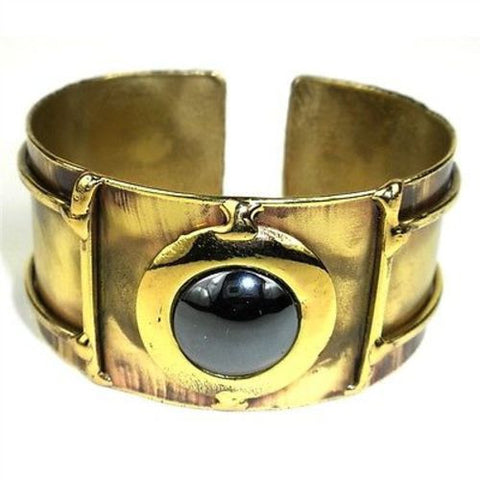 Shine On Hematite Cuff-Snazzy Bazaar