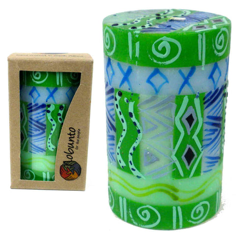 Single Boxed Hand-Painted Pillar Candle - Farih-Snazzy Bazaar