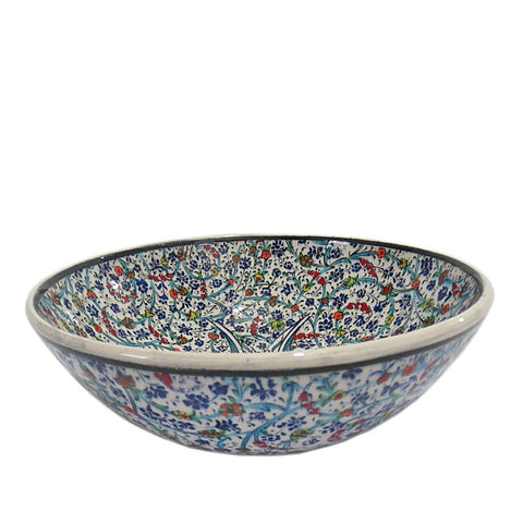 Turkish Ceramic Bowl - Blue-ming-Snazzy Bazaar