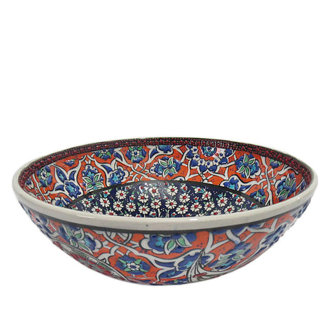 Turkish Ceramic Bowl - Indi Bloom-Snazzy Bazaar
