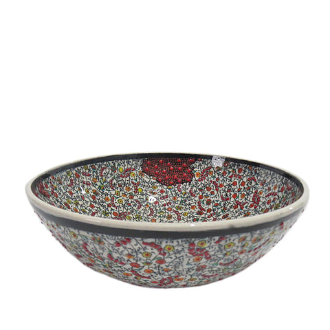 Turkish Ceramic Bowl - Rasberry-Snazzy Bazaar