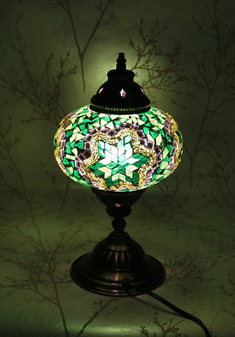 Turkish Mosaic Table Lamp - Emerald Bay-Snazzy Bazaar