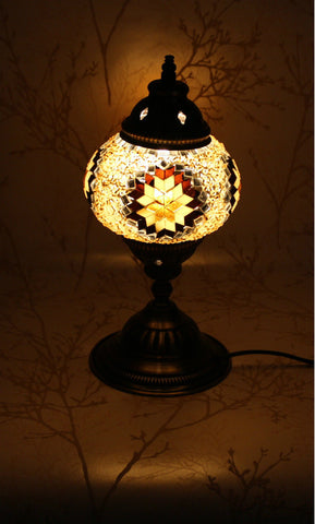 Turkish Mosaic Table Lamp - Goldie Brown-Snazzy Bazaar