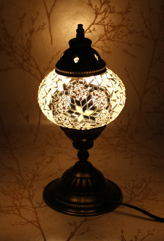 Turkish Mosaic Table Lamp - Mystic Moon-Snazzy Bazaar