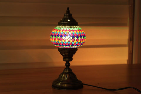 Turkish Mosaic Table Lamp - Spectral Delight-Snazzy Bazaar