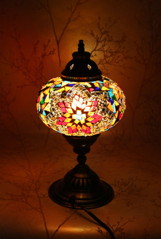 Turkish Mosaic Table Lamp - Wild Flower-Snazzy Bazaar