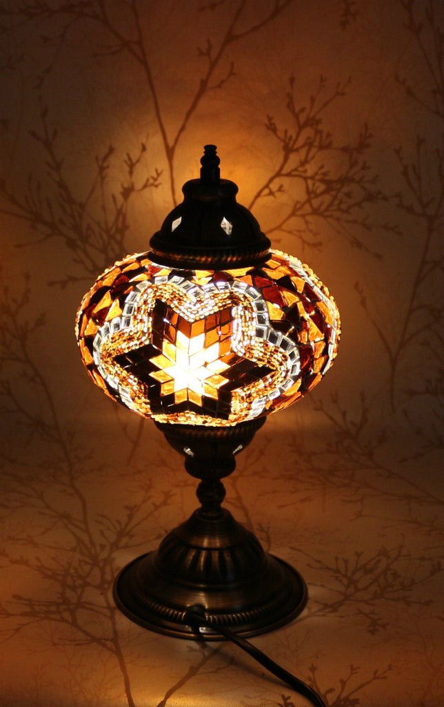 Turkish mosaic table lamp sea star yellow snazzy bazaar turkish mosaic table lamp yellow sea star snazzy bazaar mozeypictures Image collections