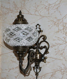 Turkish Mosaic Vanity Lamp - Gold Sparkle-Snazzy Bazaar
