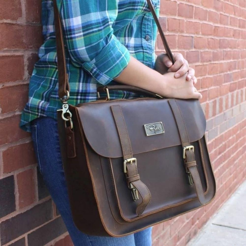 Mustang Brown Messenger Bag