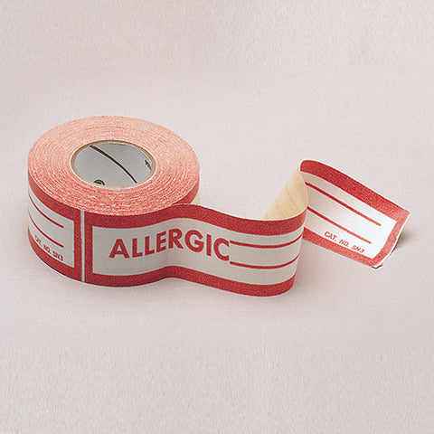 Allergic Label - Rochester Medical Supplies