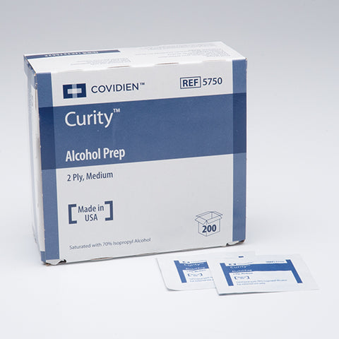 Covidien Curity Alcohol Prep Pads - Rochester Medical Supplies