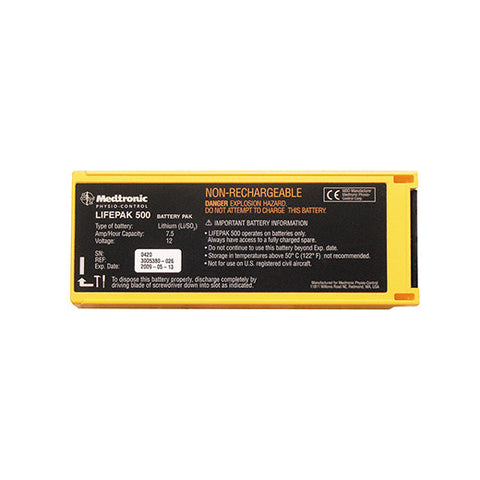 Lifepak 500 Non-Rechargeable Battery - Rochester Medical Supplies