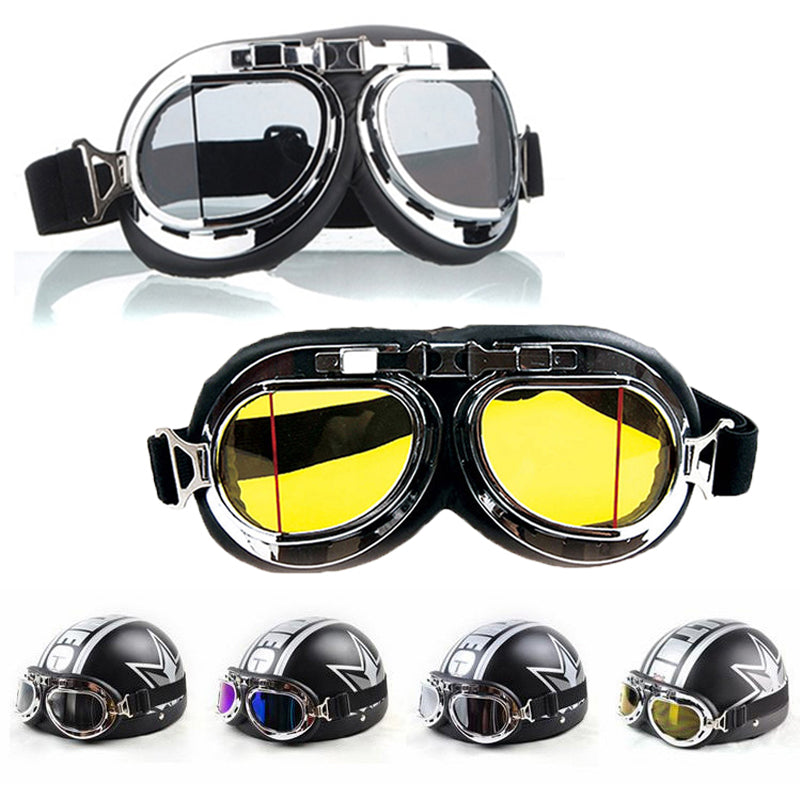 Steampunk Gothic Goggles Flying Scooter Helmet Glasses Cool Steampunk Goggles Glasses Cosplay Welding Wear Hot Sale Men's Glasses Apparel Accessories