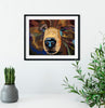 Jimbo Paper Art print Kodiak Bear - Jimbo - Animal Wall art, office decor for men, living room art, law office decor, collections for a cause - ErinFoggoaCreative