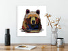 Leo Canvas Print Canvas print brown bear animal art  Eco friendly - Vet office decor - Collections for a cause Neutral abstract wall art Animal wall art - ErinFoggoaCreative