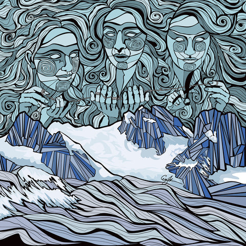 Three Sisters over The Bugaboos - Giclee Print - ErinFoggoaCreative