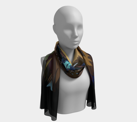 Scarves for Women Chiffon Scarf Aesthetic Clothing Super Soft Scarf Brown Bear Jimbo Boho - ErinFoggoaCreative