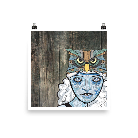 The Snow Goddess - Lady Ullr - Print - ErinFoggoaCreative