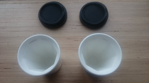 A Pair of Therma Cups in White (any lid colour combination)