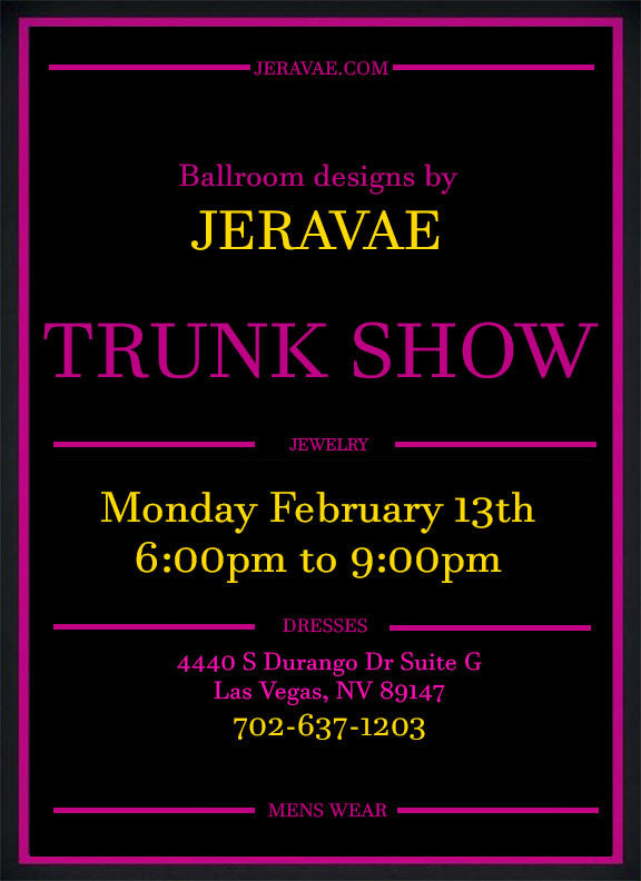 Trunk show Feb 13th!