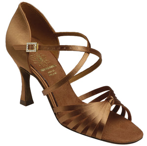 Six Strap Latin Shoe with Adjustable can be worn on Ankle or Instep Supadance 1066