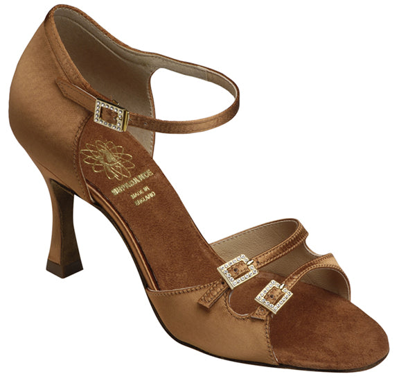 Supadance Latin Shoe with Adjustable Front Straps with Rhinestone Buckles 1616