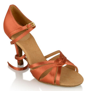 Partially Closed Front Straps Ladies Rhythm Shoe Aura 884