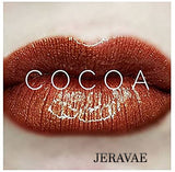 #1371 Cocoa LipSense Lip Color. Long-Lasting Rich Medium Warm Brown with a Gold Shimmer Vegan Lipstick