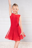 JR-B1 and JR-S1- GIRLS DANCE AMERICA BALLROOM OR LATIN SLEEVELESS BODY SUIT AND MATCHING MESH SKIRT MIX AND MATCH