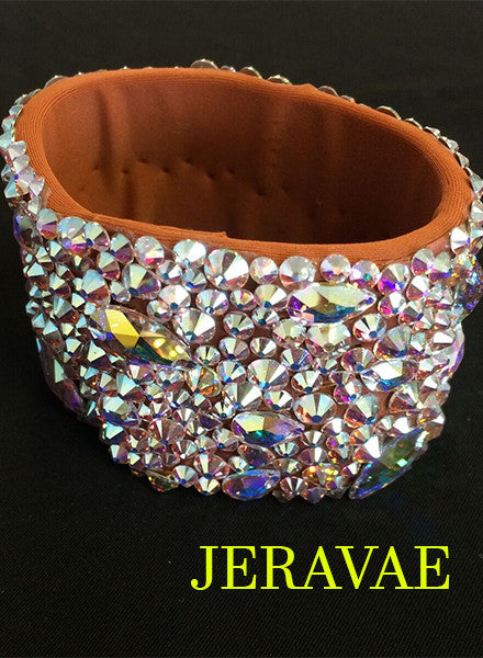 Extra Wide Swarovski Wristband Ballroom Bracelet Choose Color