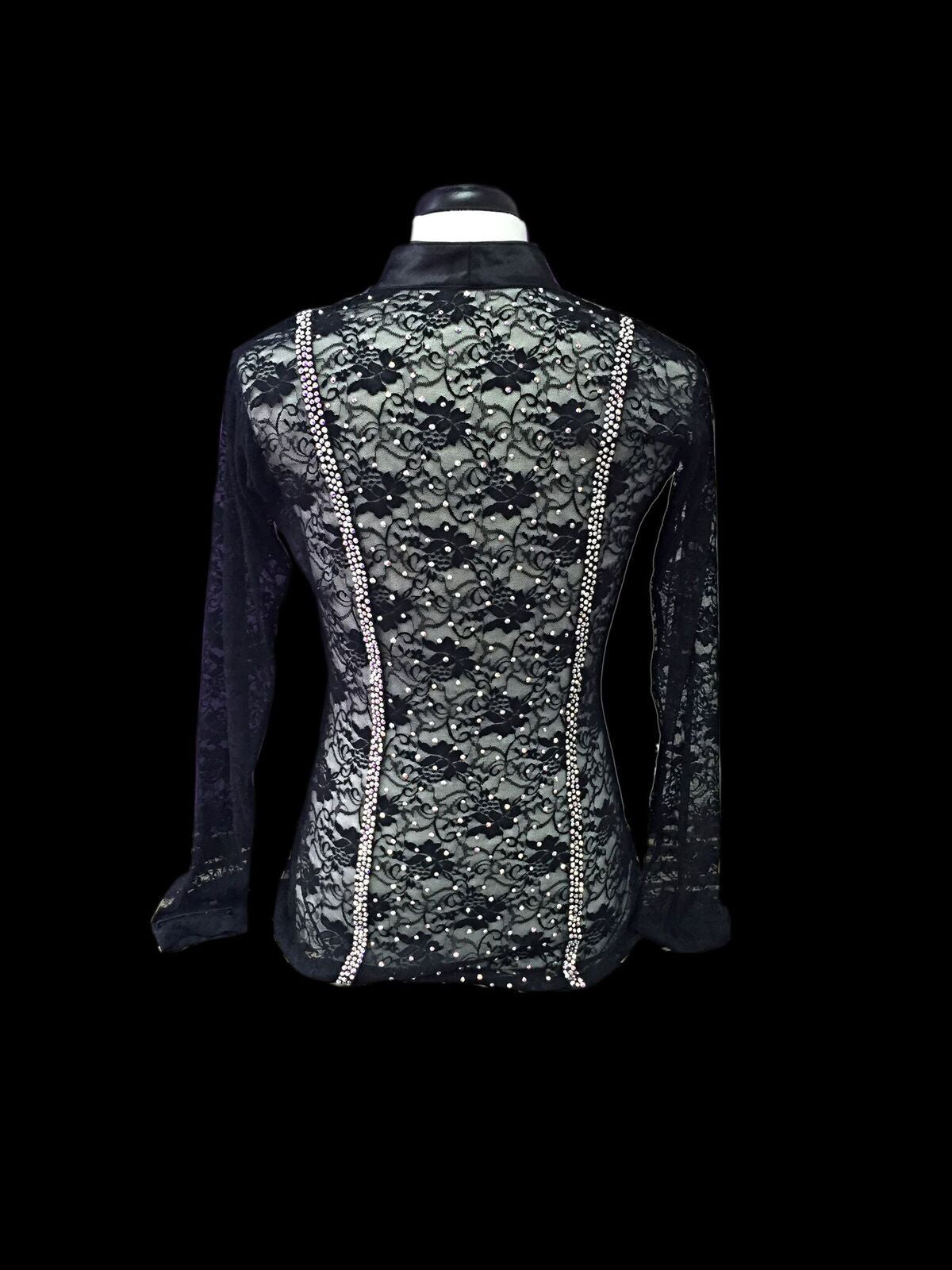 Lace Latin Shirt with Swarovski Crystal SOLD