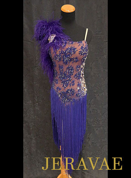 Resale Lenique purple Latin Dress with Fringe SOLD