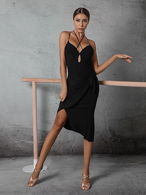 ZYM Dancestyles Must Have LBD #2009H with Short Latin Skirt and Long Tie Option for longer Skirt Pra529