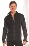 Mens Ruffled Snap Closure Tuxedo Ballroom Shirt without Trunks MS8A