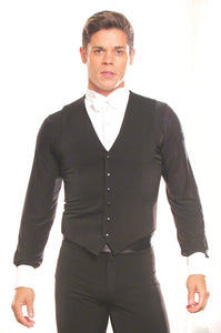 Mens Simple Stretch Ballroom Vest with Snap Closer MV1_in