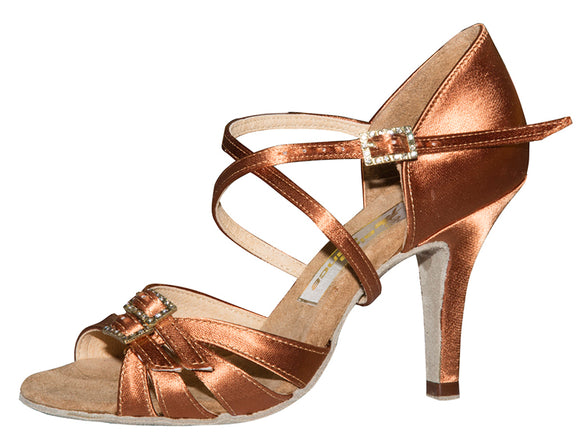 Aida Latin Shoe with Adjustable Front Straps. Perfect for Every Foot Width Nikolishina 071E