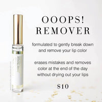 #1912 Ooops! LipSense Lip Color Remover. Formula of Beneficial Ingredients to Gently and Instantly Remove or Correct LipSense Lip Color