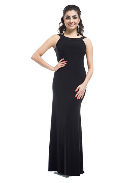 Sleeveless Ballroom Practice Dress with Sport Neckline and V-back Pra091