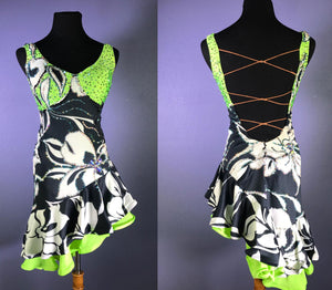 Green and Black Latin/Rhythm Dress SOLD