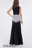 Adorable White and Black Polka Dot Ballroom Practice Skirt with Lace Accent and Matching Sleeveless Practice Top  Pra542