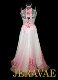 Pink Floral Ombre Ballroom Dress SMO049 sz Small/Medium