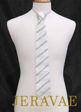 BALLROOM TIE WITH DOUBLE REPEATING STRIPE