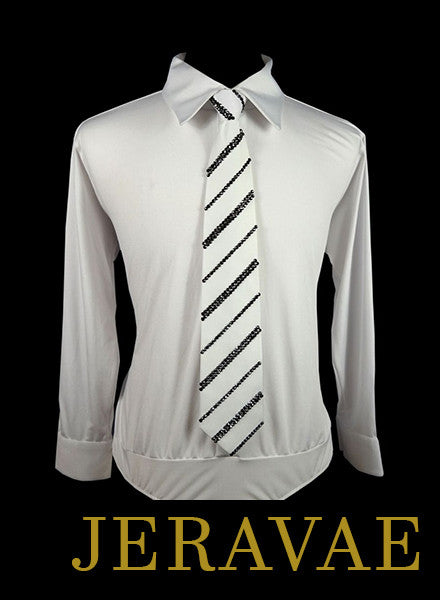 BALLROOM TIE WITH ALTERNATING STRIPE SIZES