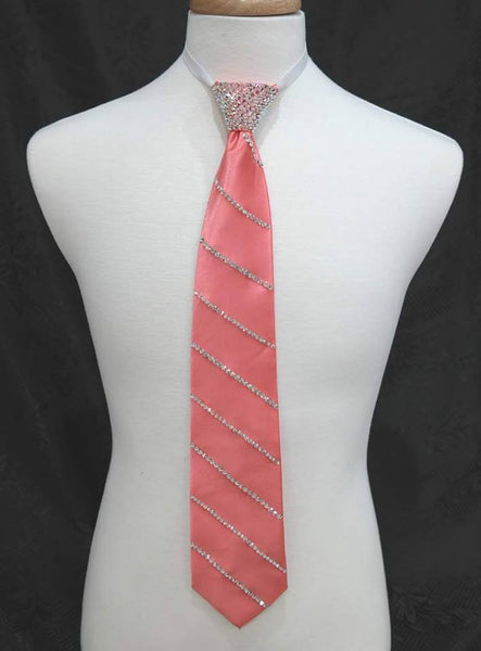 BALLROOM TIE WITH SINGLE REPEATING STRIPE AND SOLID STONED KNOT
